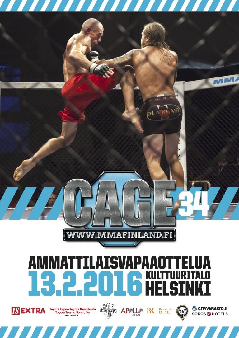 MM-hopeamitalisti sekä Viron konkari Cage 34:een