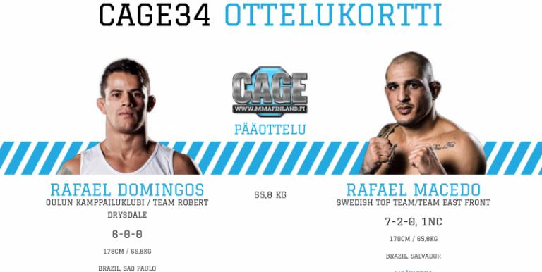 CAGE 34 huomenna Helsingissä