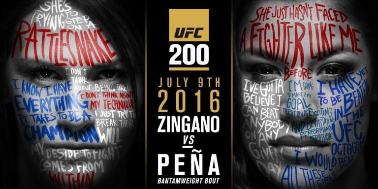 UFC 200: Cat Zingano vs. Julianna Pena